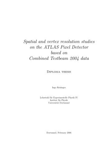 Spatial and vertex resolution studies on the ATLAS Pixel Detector ...