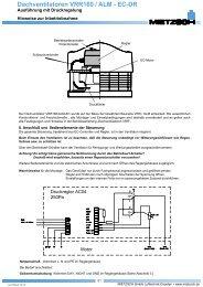 Dachventilatoren VRR160 / ALM - EC-DR - Mietzsch GmbH ...