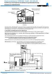 Dachventilatoren VRR160 / ALM - EC-DR-ZS - Mietzsch GmbH ...