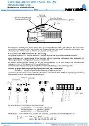 Dachventilatoren VRR / ALM - EC -ZS mit Zeitsteuerung