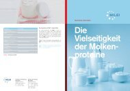 Die Vielseitigkeit der Molken- proteine - milei.de