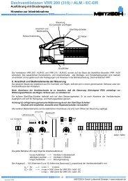 Dachventilatoren VRR 200 (315) / ALM - EC-DR - Mietzsch GmbH ...
