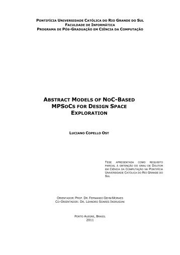 abstract models of noc-based mpsocs for design space ... - PUCRS