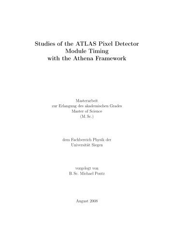 Studies of the ATLAS Pixel Detector Module Timing with the Athena ...
