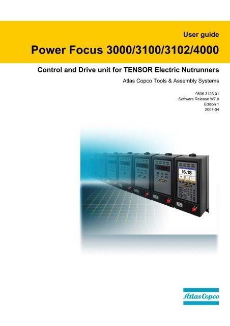 User guide Power Focus 3000/3100/3102/4000 - Edlo Sales