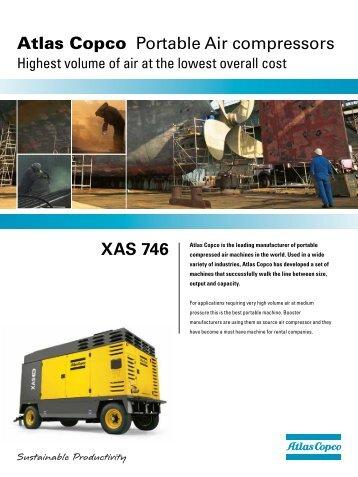 Atlas Copco Portable Air compressors XAS 746 - Atlas Copco UK