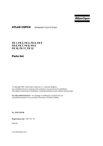 Atlas copco air dryer fx3 manual array atlas copco fx 13 fx 14 fx 15 parts list rh yumpu com fandeluxe Choice Image