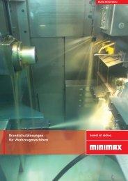Brandschutzlösungen für Werkzeugmaschinen - Minimax
