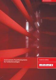 Automatische Feuerlöschsysteme für Farblackieranlagen - Minimax