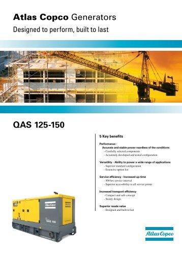 Atlas Copco Generators QAS 125-150 - Ramirent