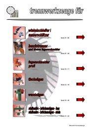 optimale Wasserspülung perfekte Abführung des Schleifschlammes ...