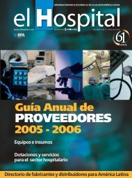 PROVEEDORES - El Hospital