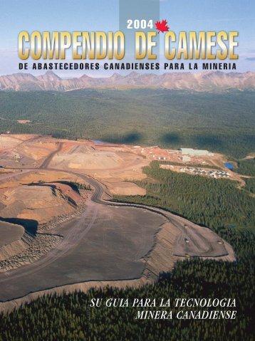 su guia para la tecnologia minera canadiense 2004 - CAMESE