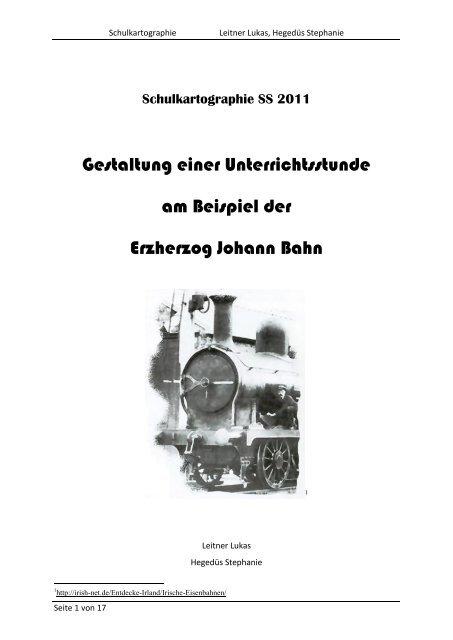Schulkartographie SS 2011 - Regionales Fachdidaktikzentrum für ...