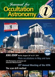 Journal for - International Occultation and Timing Association