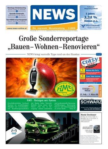 6.3.2009 Redaktions- schluss: 10.3.2009 Für ... - NEWS-ONLINE.at