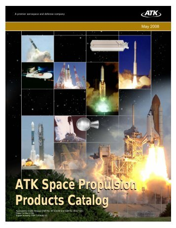 ATK Space Propulsion Products Catalog ATK Space Propulsion