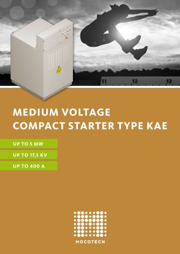 medium voltage compact starter type kae - Mocotech GmbH