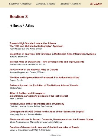 Section 3 Atlases / Atlas - International Cartographic Association