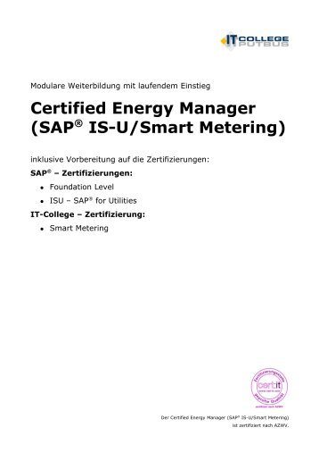 Anbindung von SAP IS-U für Verbrauchsdaten mittels SBI bei den ...
