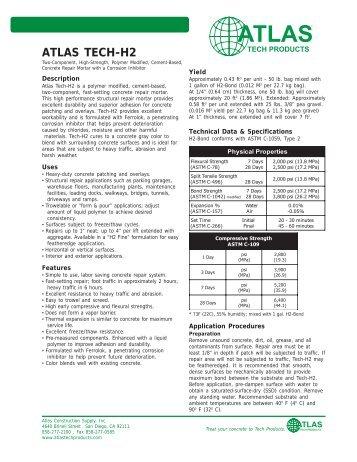ATLAS TECH-H2 - Atlas Construction Supply, Inc