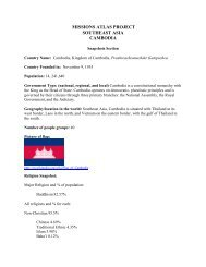 Bulletin Prayer for the Nations - Trinity Center for World Mission