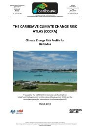 THE CARIBSAVE CLIMATE CHANGE RISK ATLAS (CCCRA)