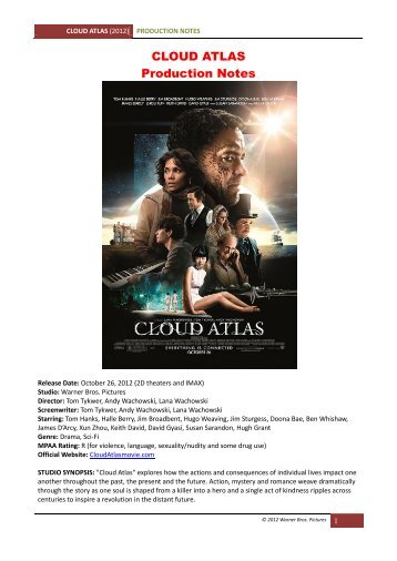 """Cloud Atlas"" production notes [PDF] - VisualHollywood"