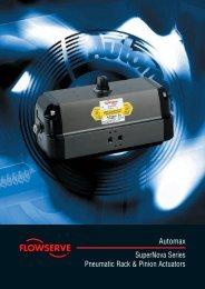Automax SuperNova Series Pneumatic Rack & Pinion Actuators