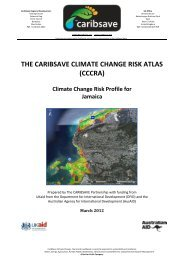 THE CARIBSAVE CLIMATE CHANGE RISK ATLAS