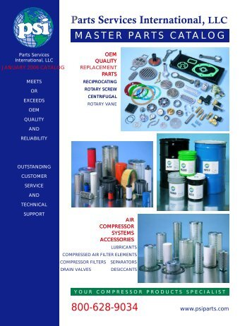 Parts Services International Catalog - eCompressedair
