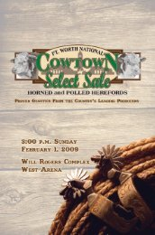 """""""cowtown select"""" sale consignors - Texas Hereford Association"""