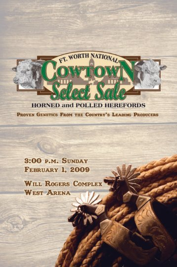 """cowtown select"" sale consignors - Texas Hereford Association"