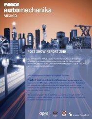 POST SHOW REPORT 2010 - PAACE Automechanika Mexico
