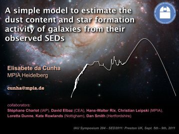 A simple model to estimate the dust content and star formation ...