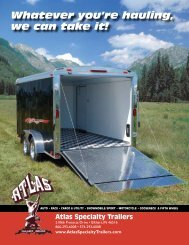 Whatever you're hauling, we can take it! - ATLAS Specialty Trailers