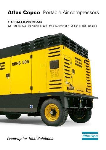 Atlas Copco Portable Air compressors - Banner Plant