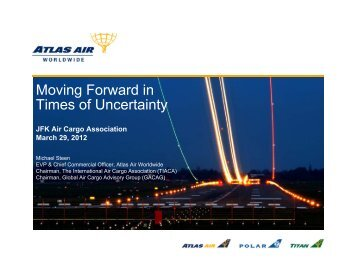 Moving Forward in Times of Uncertainty - JFK Air Cargo Association