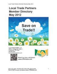 Download our New May 2012 Member Directory - Local Trade ...