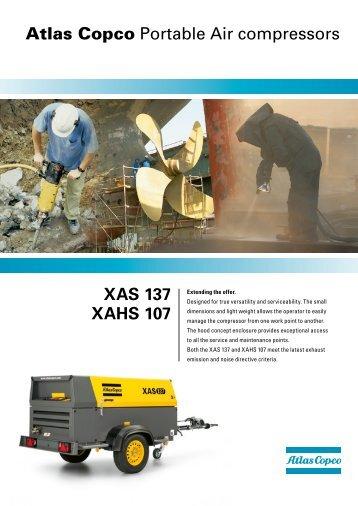 XAS 137 XAHS 107 Atlas Copco Portable Air ... - Atlas Copco UK