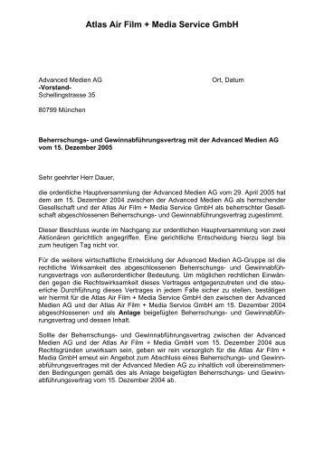 Atlas Air Film + Media Service GmbH - Advanced Inflight Alliance AG