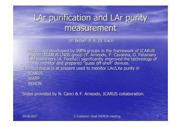 LAr purification and LAr purity measurement