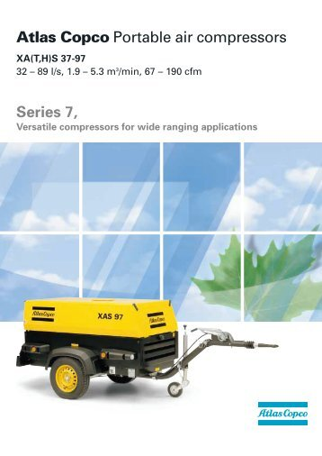 Atlas Copco Portable air compressors Series 7, - Plant Hire UK Limited