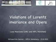 Violations of Lorentz invariance and OPERA results