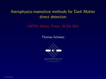 Astrophysics-insensitive methods for Dark  Matter direct detection ...
