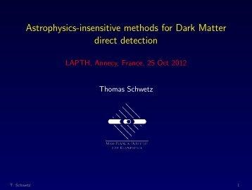 Astrophysics-insensitive methods for Dark  Matter direct detection ...