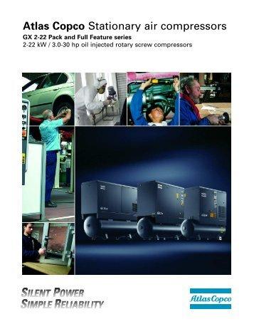 Atlas Copco Stationary air compressors - Glauber.com