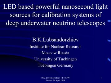 LED based powerful nanosecond light sources for calibration ...
