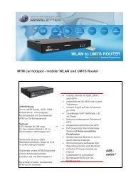 MTM car hotspot - mobiler WLAN und UMTS ... - MTM-Mobilfunk