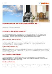 www.finstral.de - Kunststoff-Fenster mit Mitteldichtungssystem Top 72